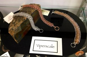 Bellabor Art Jewelry, Viperscale chainmaille bracelets