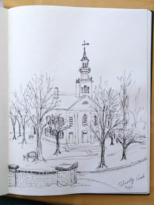 Sketch, Tallmadge Circle, Karen Koch
