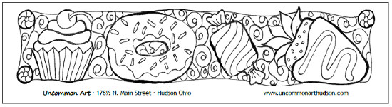 Color Your Own Bookmark, Sweet Treats, Uncommon Art, Hudson Ohio