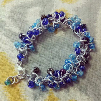 chain maille bracelet shaggy loops sm