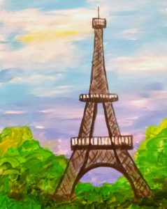 Painting Party, Hudson Ohio, Eiffel Tower