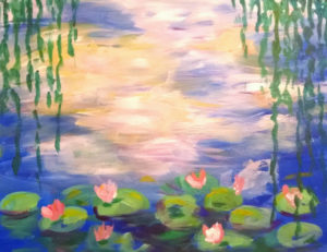 Monet's Waterlilies, Paint and Wine Parties, Hudson Ohio