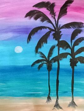 BYOB Painting Party, Palm Trees, Hudson Ohio