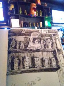 tiki underground happy hour sketch