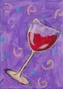 Paint Party Sample: tipsy wine glass