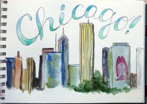 travel sketch chicago